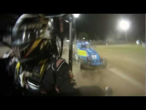 Dave Darland [race footage] New Zealand Midget Car, Western Springs Speedway