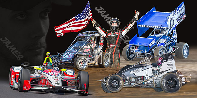 Bryan Clauson USA Canvas